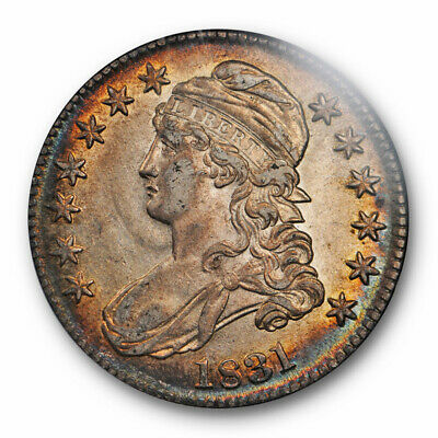 1831 Capped Bust Half Dollar NGC AU 58 About Uncirculated Toned Beauty