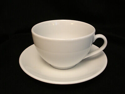 All White bt Apilco COFFEE CUP & SAUCER 2 3/4: