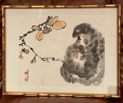 Nice Chinese Hand Painted Scroll Painting By Huang Jun Bi.