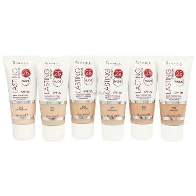 Rimmel Lasting Finish 25 Hour Skin Perfecting Foundation 30 ML Colour Selection