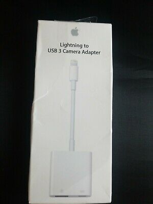 Genuine Apple lightning to USB 3 camera adapter
