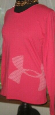 Under Armour Womens Top Tech Loose Pullover Graphic Pink size Medium