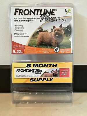 Frontline Plus for Dogs (Small) Flea&Tick Killer 8-Month Supply Factory Sealed