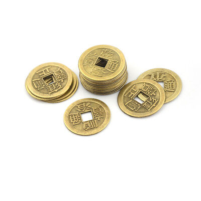 20pcs Feng Shui Coins 2.3cm Lucky Chinese Fortune Coin I Ching Money Alloy G0HWC