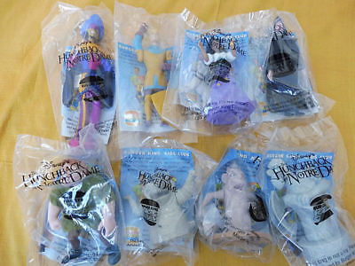 Burger King 8 HUNCHBACK of NOTRE DAME Kids Club Toys Complete Set MIP