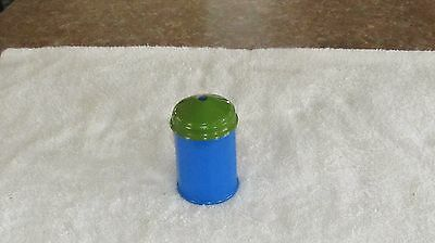 Vintage Retro Blue Gemco Glass Ribbed Panel Sugar Shaker Cone Lid Diner Style