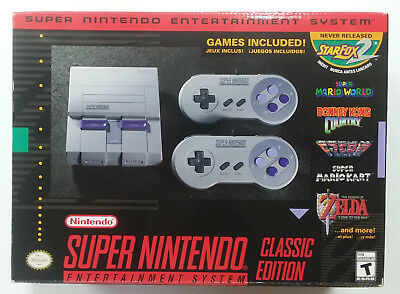 NEW Super Nintendo Entertainment System SNES Classic Mini Edition FREE SHIPPING