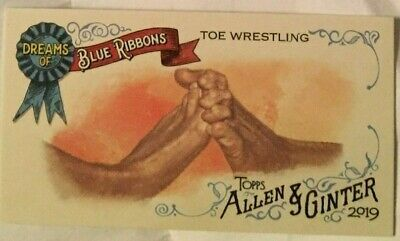 2019 Topps Allen and Ginter MINI - TOE WRESTLING Dreams of Blue Ribbons #DBR-5
