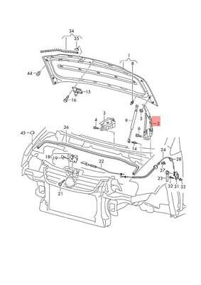 Genuine Operating Rod Left Upper Right Lower VW Caddy 2K0847788A