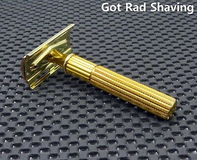 Vintage 1940's Gillette Fat Handle Heavy Tech  DE Safety Razor Nice & Clean!