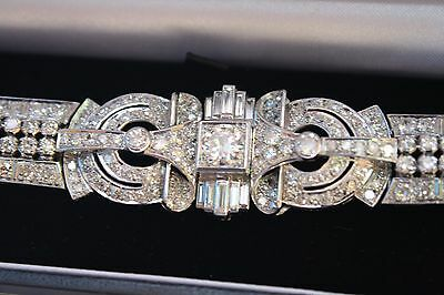 Magnificent French Art Deco Platinum Diamond Bracelet Must See