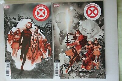 House Of X #1 + Powers of X #1 (Second Printing variants) 2019 Marvel