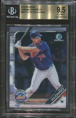 2019 Bowman Chrome Peter Pete Alonso Rc #127 BGS 9.5  QTY