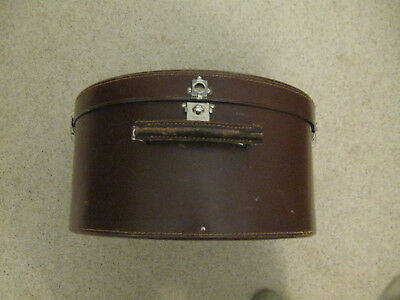 Ladies round leather hat box