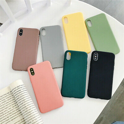 For iPhone 11 Pro Max XS Max XR XS X 8 7 6s Plus Thin Matte Shockproof Soft Case