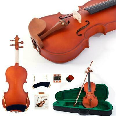 Glarry 4/4 Maple Natural Violin Fiddle + Case+ Bow+ Shoulder Rest +Tuner+ Rosin