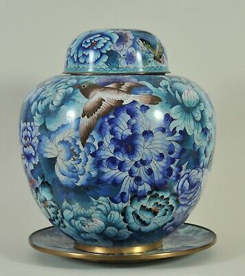 Great Chinese Cloisonné Vase and a plate,