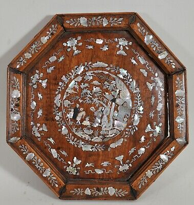 Antique Chinese mother-of-pearl marquetry, 19th c.