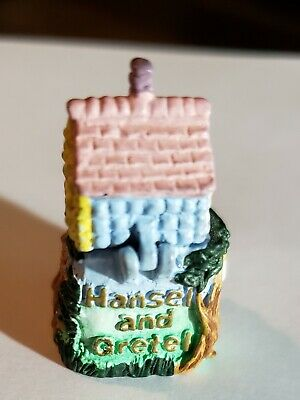 Painted Pewter Thimble of Hanzel and Gretel - makers mark - Lid flips