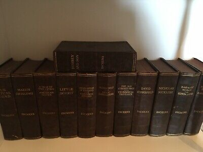 Charles Dickens 12 Volume Set Of Antique Beautiful H/B Books