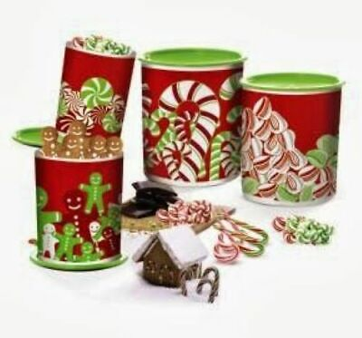 Tupperware One Touch Holiday Canister Set