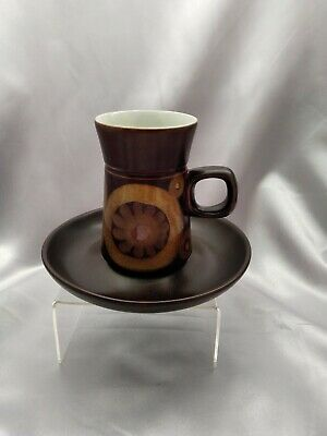 Denby Pottery Coffee Cup And Saucer, Unused