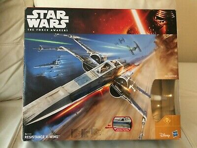 Resistance X-Wing Fighter STAR WARS 2015 The Force Awakens USED/Boxed Complete!