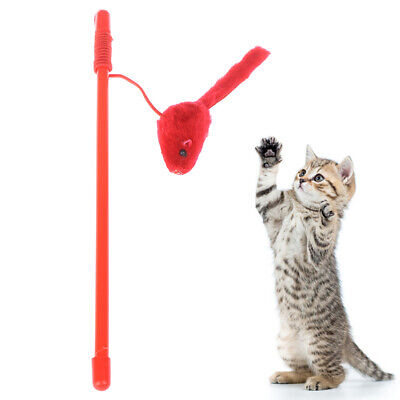 Pet Cat Toy Cute Design Mouse Stick Teaser Wand Plastic Toy for Cat Toys PetSC