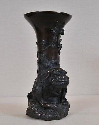 Antique Japanese bronze vase, 19th century