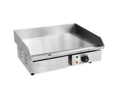 Electric Grill Counter Top Hot Plate Commercial Grade Stainless Steel 3000W