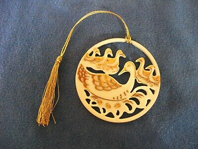 Lenox  Twelve 12 Days of Christmas Six 6 Geese a Laying Porcelain Tree Ornament