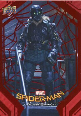Spiderman Homecoming Red Foil [199] Base Card #27 Vulture in the Workshop