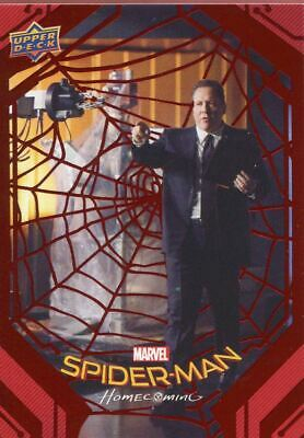 Spiderman Homecoming Red Foil [199] Base Card #75 Happy Supervises