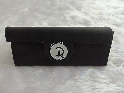 Used- Red or Dead black triangular glasses / sunglasses case-proceeds to charity