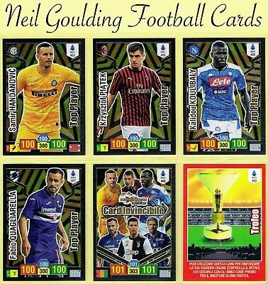 Calciatori ADRENALYN XL 2019/2020 ☆ TOP PLAYER / INVINCIBLE ☆ Cards #463 to #469