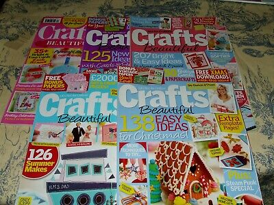 5 x crafts beautiful magazines issues 234/228/254/232/291 vgc