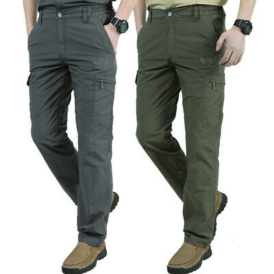 Men's 6-Pocket Military Tactical Quick Dry Pants Soft Army Military Trousers Hot
