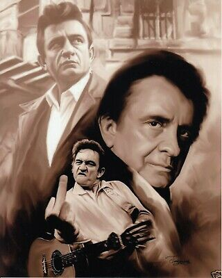 Johnny Cash 8X10 UNSIGNED Photo Collage (A)
