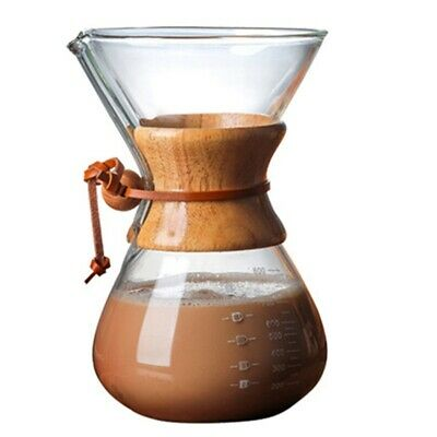 Pour over Coffee Maker with Glass Carafe and Reusable Filter Manual Coffee Y2A9