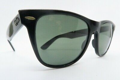 Vintage B&L Ray Ban Wayfarer II sunglasses black etched lens made in the USA