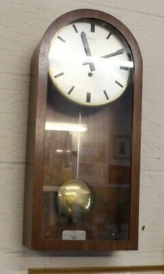 1960's Retro clock Mahogany Case with Brass Pendulum