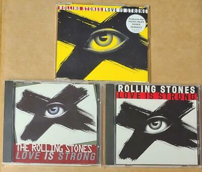 The Rolling Stones LOVE IS STRONG 1994 Virgin UK USA 3 CDs 2 New Voodoo Lounge