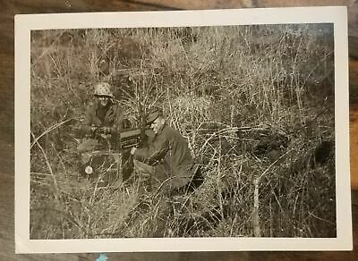 Vintage WWII Photograph US Army 2 Soldiers Wiremen WW2 photo