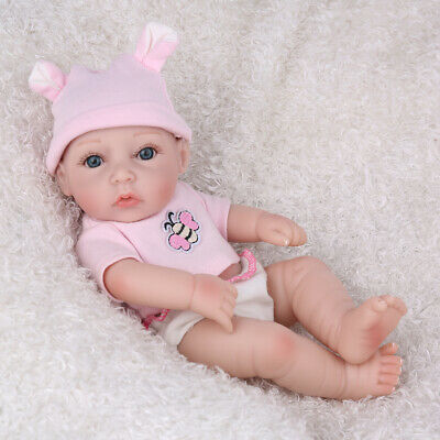 "10""Realistic Reborn Baby Doll Anatomically Full Body Silicone Handmade Gift Girl"