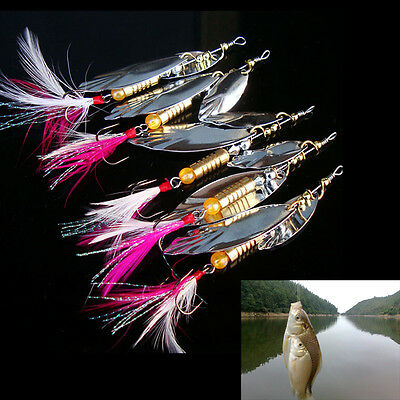 8g Fishing Lure Spoon Bait ideal for Bass Trout Perch pike rotating Fishing VG