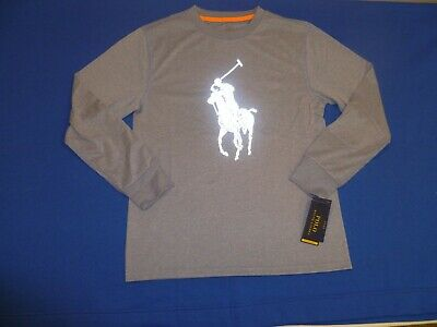 Boys Ralph Lauren Long Sleeve Performance T Shirt, Medium