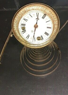 Ansonia Clock Movement And Dial Visible Escapement Spares Nice Dial