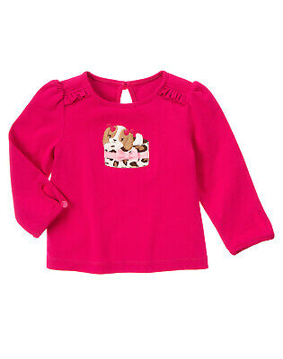 NWT Gymboree Parisian Chic Dog Puppy Long Sleeve Top Tee 4T Toddler Girl