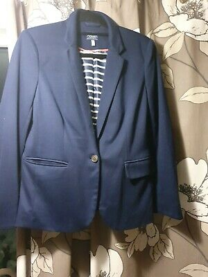 Ladies Joules French Navy Blazer Size 14