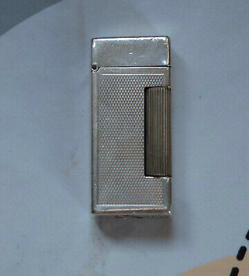 Accendino Dunhill in argento Made in Switzerland